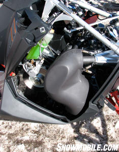 The 800 engine features a lighter, free flowing muffler.