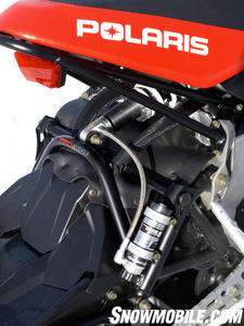 The Rush Pro-R package uses top of the line, Polaris exclusive Walker Evans shocks.