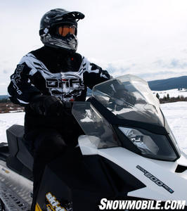 The MXZ offers great style to a sled capable of 29 miles per gallons.