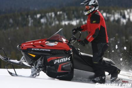 The 2011 Polaris RMK just might take you places that are beyond your skill level, so proceed with caution.