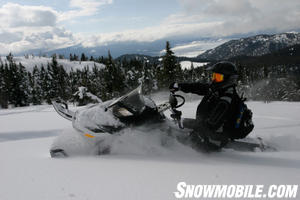 Ski-Doo decided to drop the ported tacks in favor of non-ported tracks, which are said to climb 100 ft. higher.