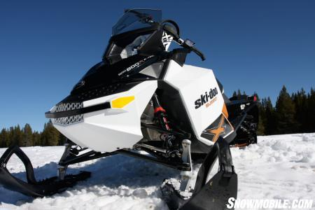 """The 2011 Ski-Doo Summit in its """"Spring Only"""" package."""