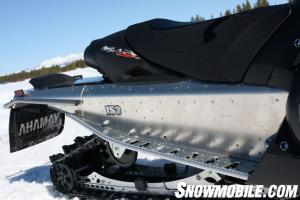 For good or for bad the Yamaha Nytro MTX has the widest running boards of any mountain sled.