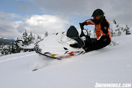 The 2010 M8 even in its 6th year remains one of the user-friendliest snowmobiles on the snow.