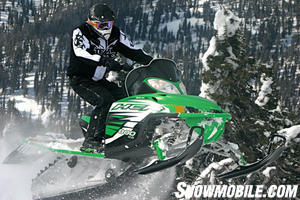 The HCR with its standard Power Claw track makes it one of the best sleds on any mountain.