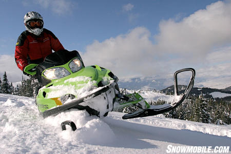Styled in Sublime Green, the Arctic Cat M8 Sno Pro LTD is sure to turn a few heads this winter.