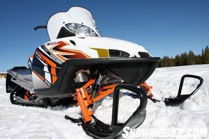 The 2011 Arctic Cat M8 Sno Pro has one of the best mountain specific chassis ever built.