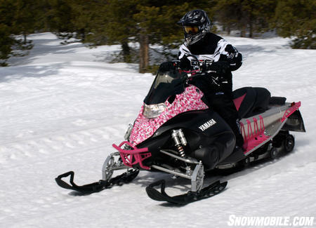 It may be called camouflage, but Yamaha's pink version can't hide anywhere. It does highlight the wide range of accessories available for the XTX.