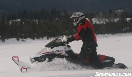 The Nytro XTX is quite adept to deep powder carving as its torque-filled motor allows the track to maintain positive momentum.