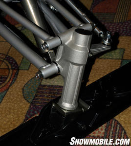 Yamaha's A-arm front suspension delivers up to 9-inches of travel.