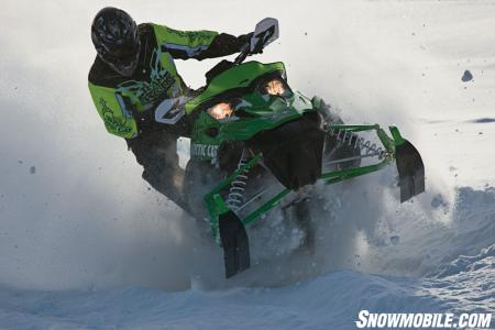 The Sno Pro 500's snocross heritage makes it an aggressive mogul master.