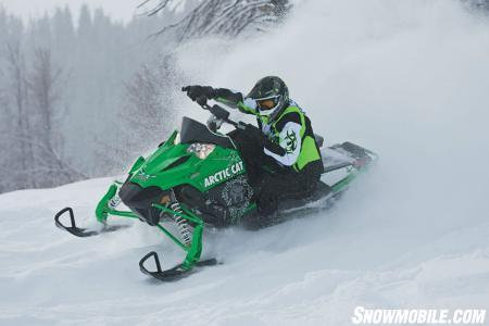 The race-bred Sno Pro 500 makes good rides great ones.