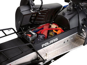 You can use the underseat storage to keep all kinds of necessities that might range from ropes to ice fishing gear.