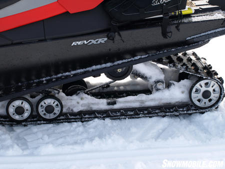 Ski-Doo used the SilenTrack to help reduce noise on the trail.