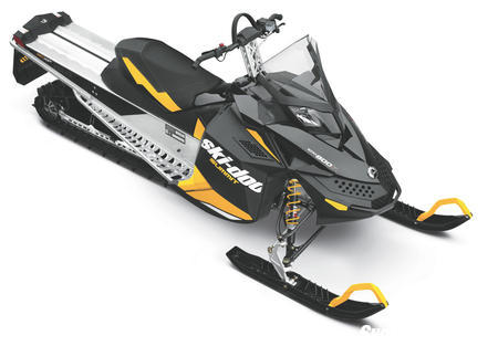 """The """"base"""" Summit mountain ride for 2012 features the twin-carb PowerTEK motor and modest shock package."""