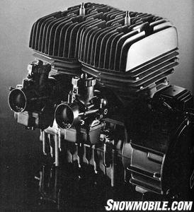 Suzuki Spirit 5000 engine circa 1976