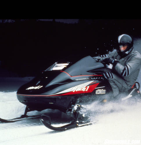 In Model Year 1991 Ski Doo Used Its Long Stroke 617cc Twin To Power A New Formula Mach 1 Models