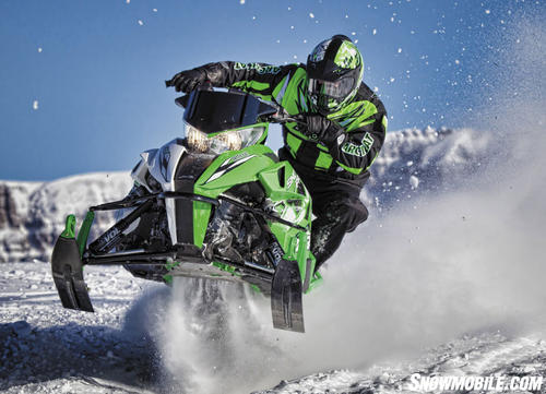 2013 Arctic Cat Race Replica Action