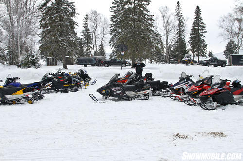Edgewater Park Lodge Snowmobile Parking