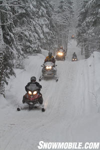 Group Snowmobile Ride Ontario