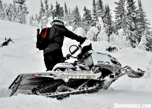 2013 Polaris 800 Pro-RMK White Sidehilling