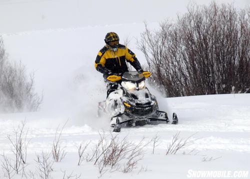 2013 Ski-Doo Renegade X 1200 Action