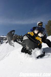 2013 Ski-Doo Summit wrong foot forward