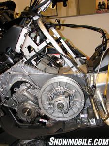Yamaha sideview engine and clutch
