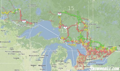 Ontario Snowmobile Trail Map