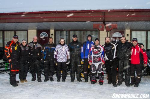 Group Shot with Snowmobile TV, Intrepid Snowmobiler, Sleddealers