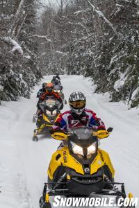 Sudbury Snowmobile Trail Riding