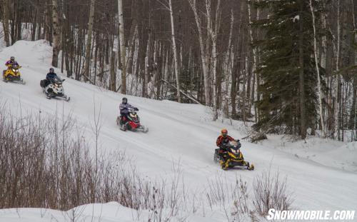 Cartier Loop Snowmobile Ride
