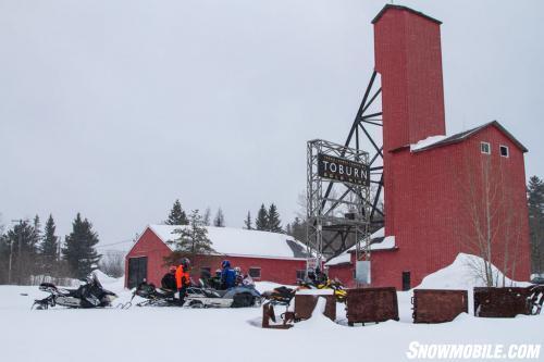 Toburn Mine Snowmobiling