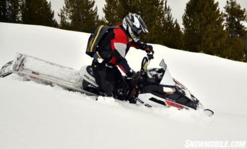 2014 Polaris 600 Pro RMK Action sidehill