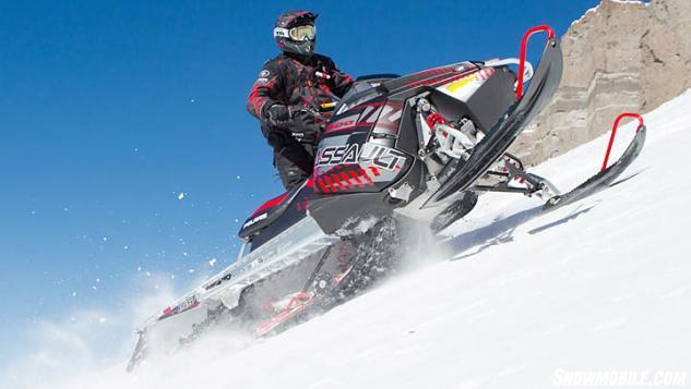 2014 Polaris 800 RMK Assault Action Sidehilling