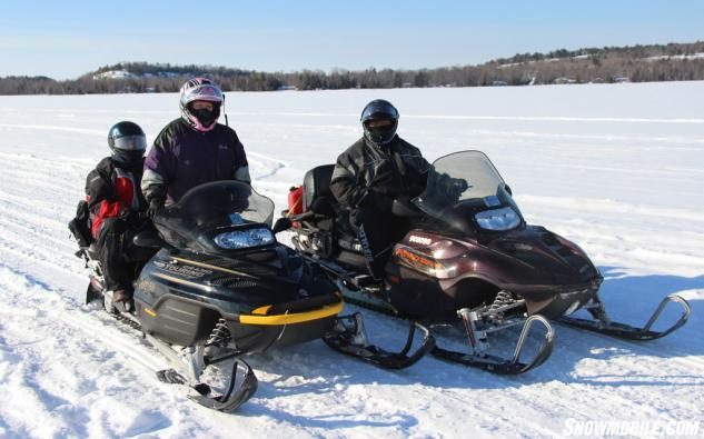 Out on the Snowmobile Trails