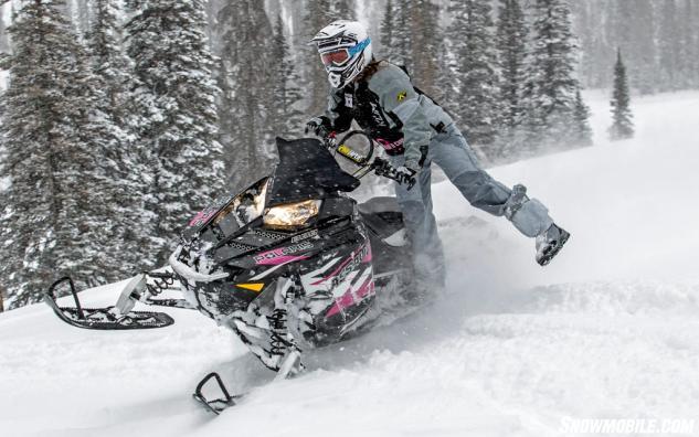 2015 Polaris 800 RMK Assault 155 SC Pink Ribbon Rider