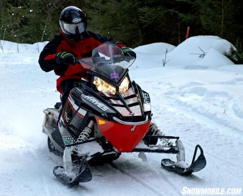 Hayes Trail Trac on Snowmobile