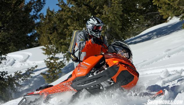 2015 Ski-Doo XM Summit X 800R Action Sidehill