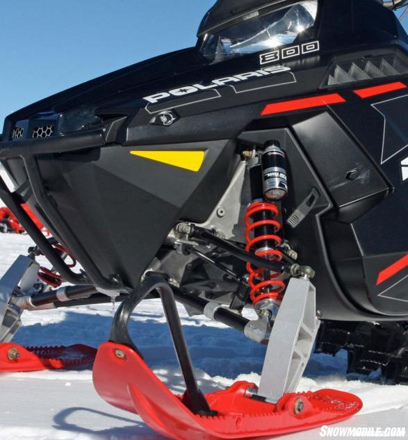 Polaris has exclusive use of the Walker Evans coil-over shocks, which have been a signature of its Pro-RMK series and other top performance models.