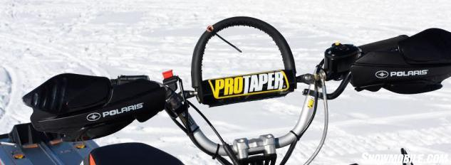 Keeping the needs of the mountain rider constantly in mind, Polaris equipped the Pro-RMK models with ProTaper bars, favored by many deep snow experts.