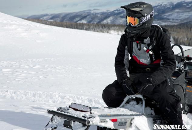 Polaris' Pro-RMK enjoys it success because through its lightweight design, top end components and great power to weight the sled provides deep snow riders with consistent and predictable performance to play in the most challenging steep and deep play areas.