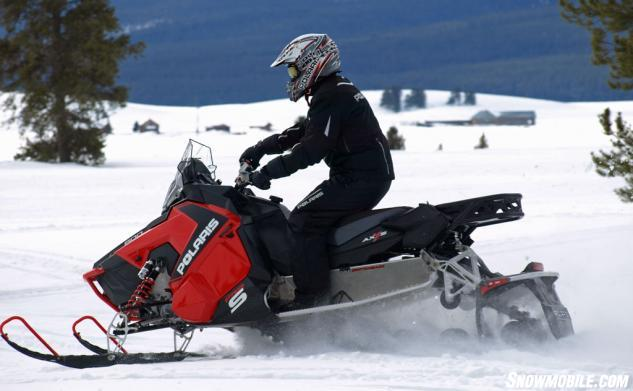 2015 Polaris 800 Switchback Pro S Action Side