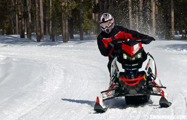 Every aspect of the 2015 Pro-X, including the AXYS performance seat, relates to creating rider balanced control, but its taller ride height makes it better for straight ahead mogul mashing rather than tight, high speed cornering.