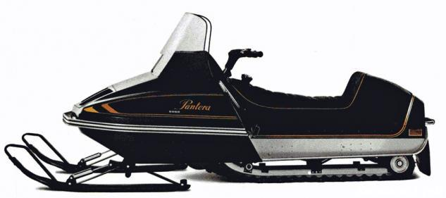 "Arctic Cat established a smoothly sloping ""wedge"" shape for its first Pantera. The rear seat bun shielded a built-in secondary fuel tank, sound familiar?"