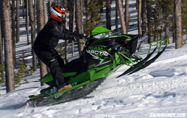 2015 Arctic Cat ZR 7000 RR Action Side