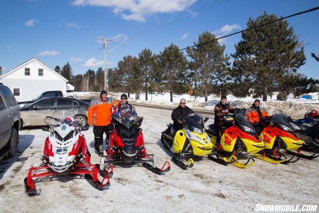 Smiling Snowmobilers