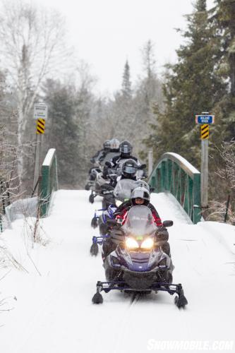 Algoma Snowmobile Bridge