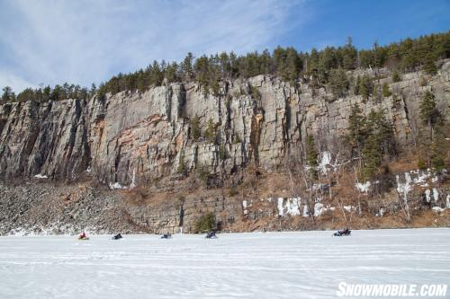Algoma Snowmobiling Cliffs