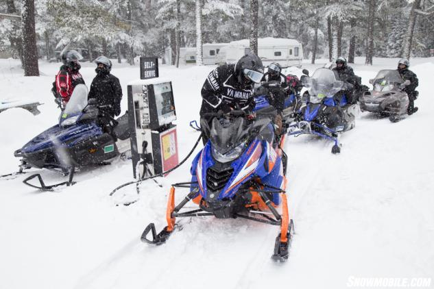 Ontario Snowmobile Gas Stop